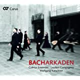 Bachkarkaden. Oeuvres chorales de Bach, Buxtehude, Purcell. Calmus Ensemble, Katschner.