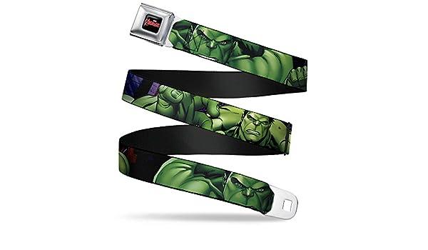 Amazon.com: Buckle-Down Seatbelt Belt - Marvel Hulk C/U Poses - 1.0