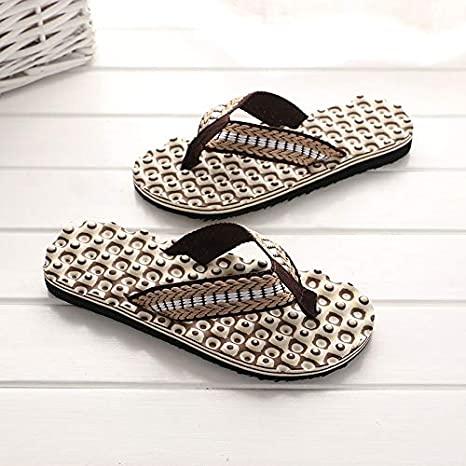 dae9d4636f5a Image Unavailable. Image not available for. Color  Go Cart Go Men Summer  Comfortable Massage Flip Flops Shoes Sandals Male Slipper Indoor   Outdoor