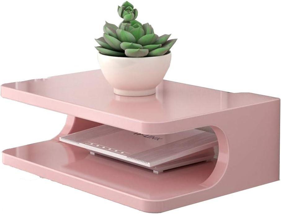 Colore : Pink Ripiani NAN Liang Scatola portaoggetti Router Portaoggetti Superiore Muro Porta TV Parete attrezzata mensola