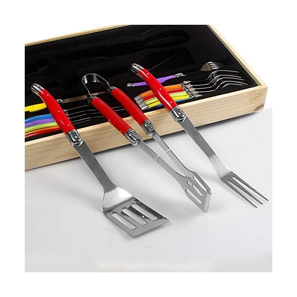 SXSHYUJE Resistente al Calore 15pcs Accessori Barbecue, Utensili Barbecue in Acciaio Inossidabile con Cassetta degli… 3 spesavip