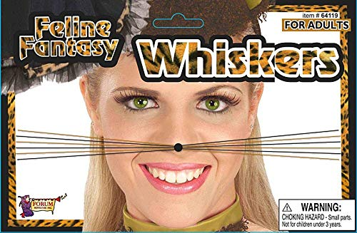 Forum Novelties 64119 Feline Fantasy Leopard Whiskers Party Supplies, One Size/Regular (Pack of 12)]()