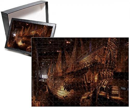 17th Century Warship (Photo Jigsaw Puzzle of Vasa, a 17th century warship, Vasa Museum, Stockholm, Sweden, Scandinavia)