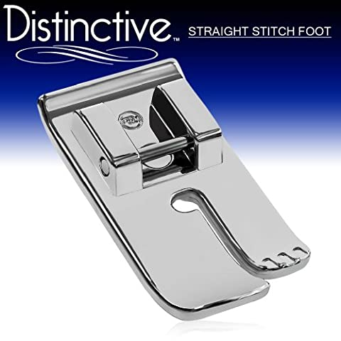 Distinctive Straight Stitch Sewing Machine Presser Foot - Fits All Low Shank Snap-On Singer*, Brother, Babylock, Euro-Pro, Janome, Kenmore, White, Juki, New Home, Simplicity, Elna and - Euro Pro Sewing