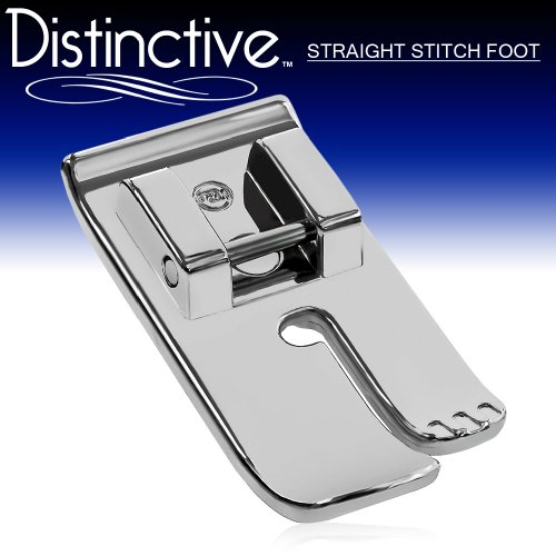 Distinctive Straight Stitch Sewing Machine Presser Foot - Fits All Low Shank Snap-On Singer*, Brother, Babylock, Euro-Pro, Janome, Kenmore, White, Juki, New Home, Simplicity, Elna and (Straight Stitch Sewing Machine)