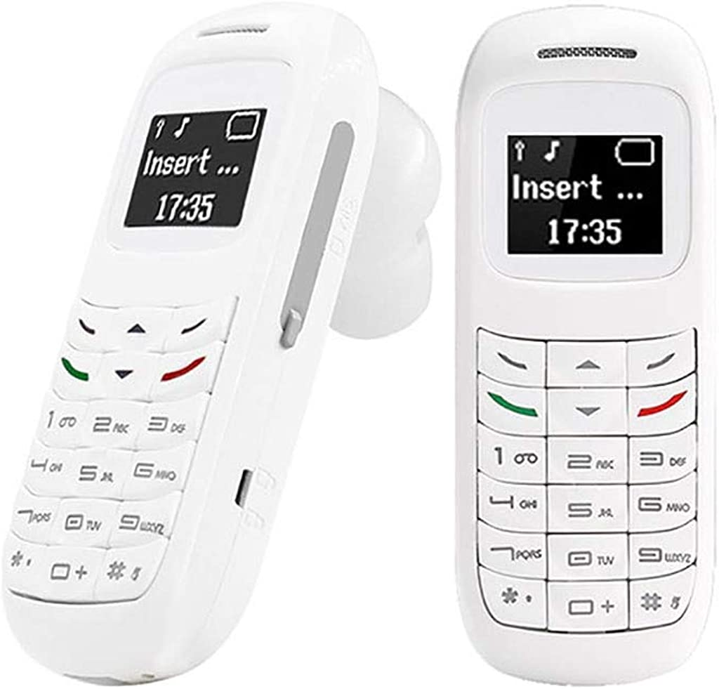Shan-S L8STAR BM70 Mini Ear Hook Mobile Phone Two Frequency Unlocked Cellphone Wireless Blueteeth Dialer Portable GSM Single SIM Card Low Radiation Cell Phones