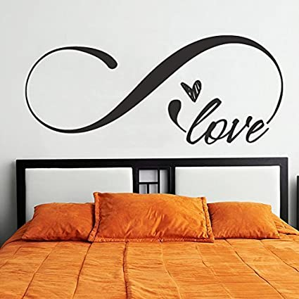 Letters Wall Decor Stickers Love Infinity Symbol Wall Decal Love