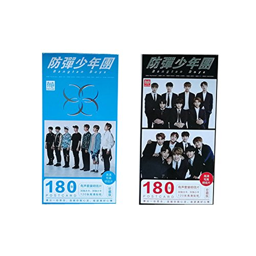 Suiez Kpop BTS Bangtan Boys 30 Postcards, 30 Collection Cards and 120 Stickers