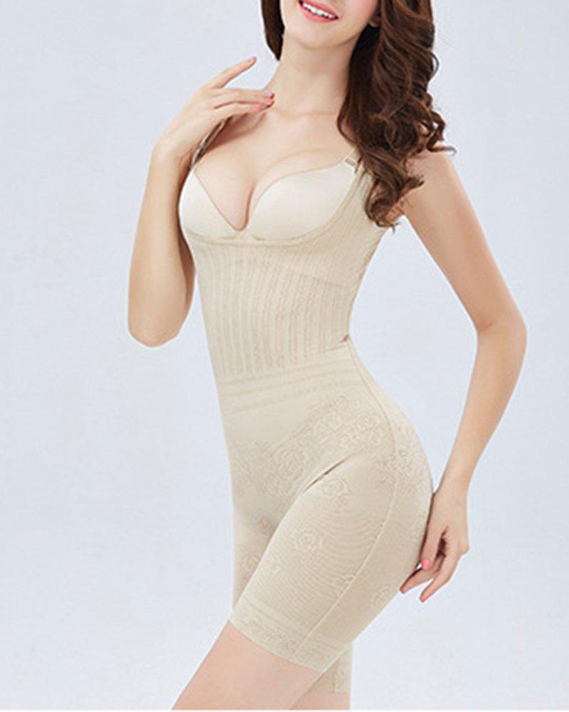 Yonglan Donna Body Snellente Aperto Busto Regolabile Shapewear Corsetto Bustino Shaper Intimo