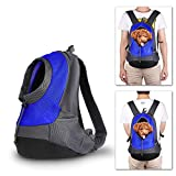 Dog Cat Pet Carrier Backpack Travel Bag Back Front Pack Carrying Pet Mesh Double Shoulder Backpack For Walk, Hiking And Cycling (Royal Blue)