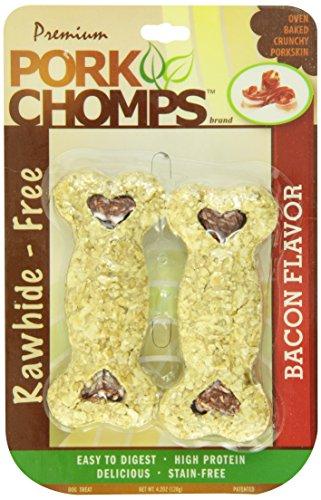 Scott Pet Products 2 Count Pork Chomps Bacon Crunchy Bone Treat, 4