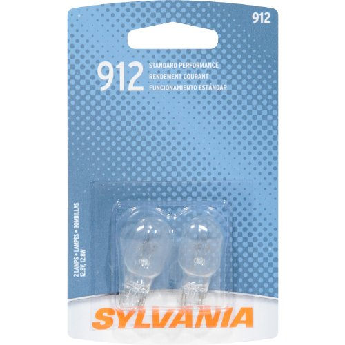 912 Bulb (SYLVANIA 912 Basic Miniature Bulb, (Contains 2)