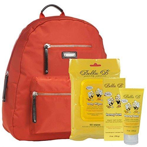 Bundle -3 Items:Storksak Charlie Backpack Diaper Bag Orange