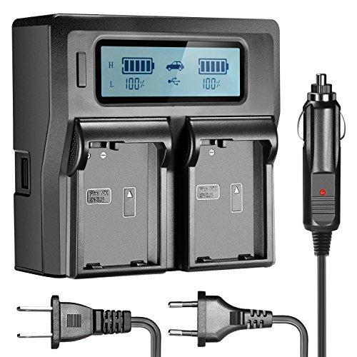 Neewer Dual LCD Battery Charger for Nikon EN-EL14 Batteries Compatible With Nikon D5300 D5200 D5100 D3100 D3200 D3300 P7100 P7000 P7700 DSLR(US Plug + EU Plug + Car Charger Adapter)