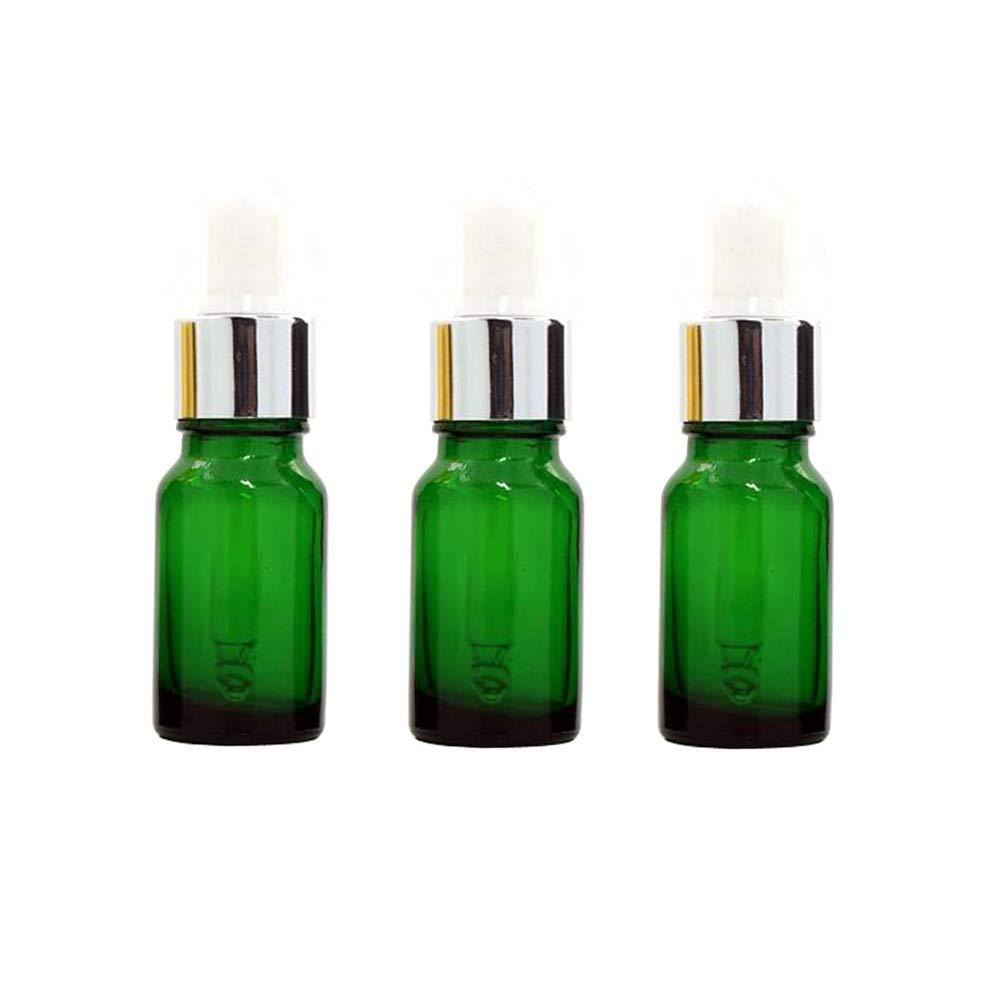 d1f09318ff79 Amazon.com: 3PCS 10ml/0.34oz Empty Refillable Green Glass Essential ...