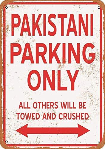 パキスタン駐車場のみ 金属板ブリキ看板注意サイン情報サイン金属安全サイン警告サイン表示パネル
