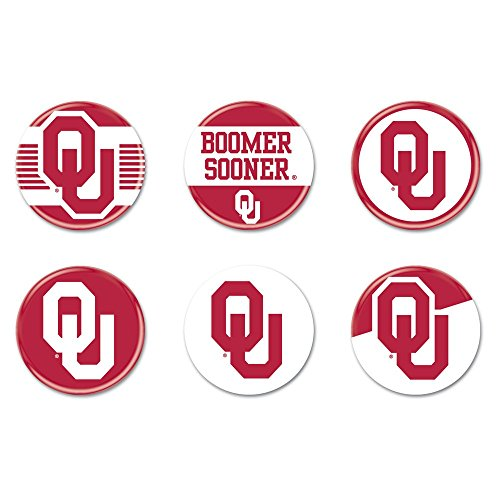 WinCraft NCAA University of Oklahoma WCR22201010 Round Button (6 Pack), 2