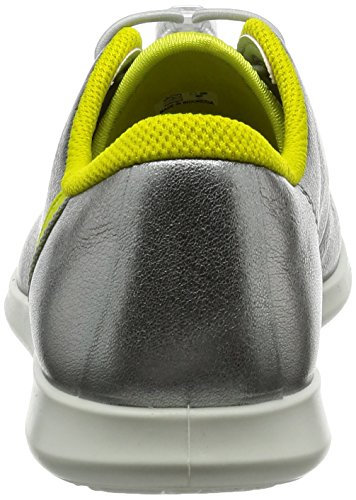 Ecco Damen Sense Sneaker Silber (50558alusiver / Sulfur / Concrete-black)