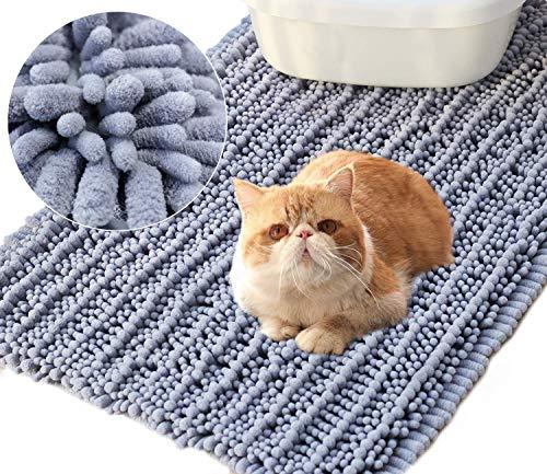 Vivaglory 35½ x 23¾Inch Large Washable Cat Litter Mat,3D Design Microfiber Litter Trap Mat, Soft on Sensitive...