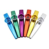 Z-Musical Instruments Musical Instrument Kazoo Aluminum Alloy Metal with 5pcs Flute Diaphragm Musical Toy Gift for Kids Music Lovers