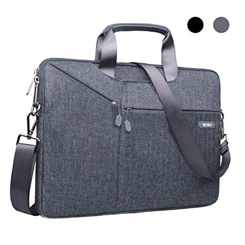 Laptop Padded Messenger - 13.3 13 Inch Laptop Bag Sleeve Case Messenger Shoulder Bag Computer Bag Waterproof Padded Nylon Shockproof Notebook Carrying Case for MacBook Air/Pro Retina, MacBook Pro 13/Surface Pro/Notebook EKOOS