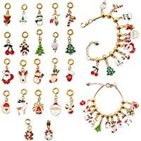 Barwa Advent Countdown Calendar DIY Charm Bracelet for Kids Charm Bracelet Making Kit Including 22 Charms Beads 2 Snake…