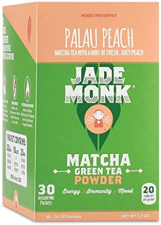 On-The-Go Matcha Green Tea Powder - Enjoy Anytime, Anywhere - All Natural energy, Mixes Instantly - Perfect For A Busy Lifestyle - Palau Peach, 30 Servings