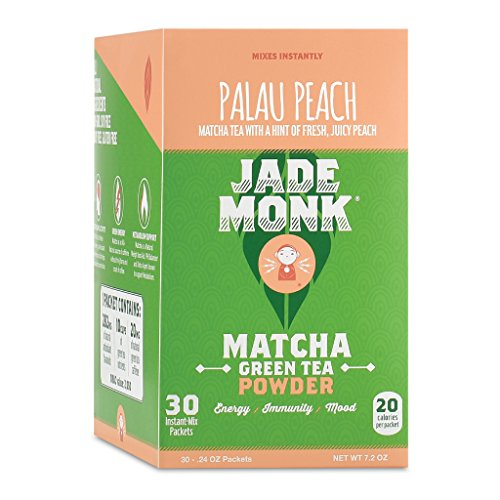 On-The-Go Matcha Green Tea Powder - Enjoy Anytime, Anywhere - All Natural, Mixes Instantly - Perfect For A Busy Lifestyle - Palau Peach, 30 Servings