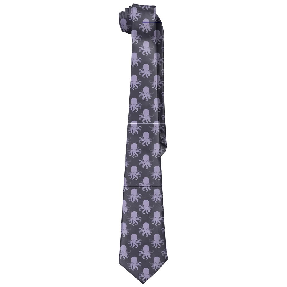 Shadidi Mens Purple Octopus Classic Tie Necktie