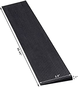 Ruedamann 1'' Rise Non-Skid Solid Rubber Wheelchair Ramp for Wheelchairs,Threshold Ramp Used for Thresholds,Doorways and Bathroom(RTR90-2.5)