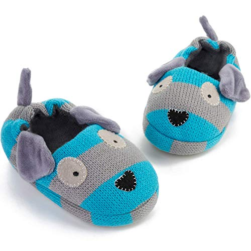 FEETCITY Toddler Boys' Doggy Slipper Cartoon Puppy Crochet Shoes Size 7.5-8 by FEETCITY (Image #2)