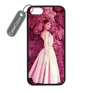 CASECOCO(TM) Audrey Hepburn Custom Case Cover Skin Shield for iPhone 5 5s Case Laser Technology