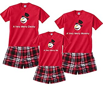 Very Merry DADDY Red Shirt Boxer Set - Adult Large, S/S, CRB Plaid Shorts