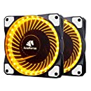 Asiahorse Solar Eclipse MIRAGE 32LED 120mm Cooling PC Compute custom Quiet case fan 2PACK(GOLD)