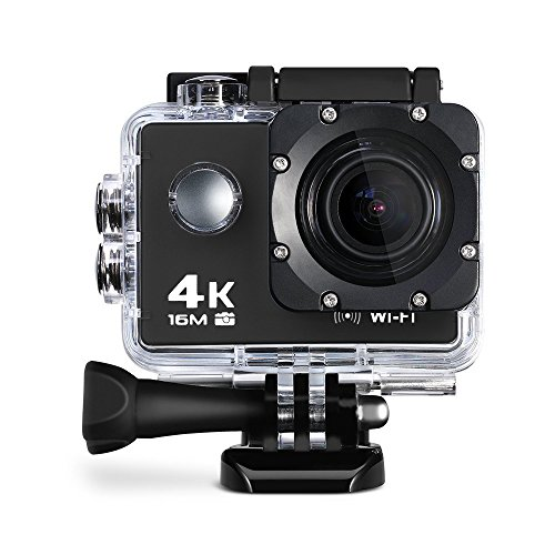 Wifi 4K Action Sports Camera Ultra HD 30m Waterproof DV Camcorder With Built-in Mic, HD 1080P 60fps, 16MP 2inch Display - Black (Best Movie Camera)