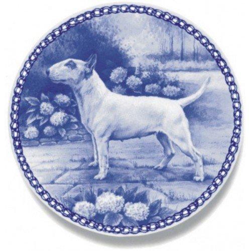 Skan Lekven Bull Terrier Danish Blue Porcelain Plate #7214