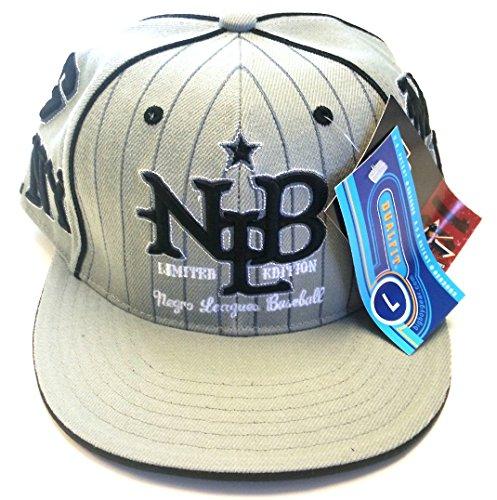Big Boy Headgear NLBM New Limited Edition Fitted Baesball Cap 2XL (7 3/4 - 7 7/8) Gray