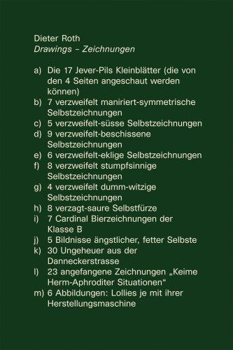 Read Online Dieter Roth: Drawings/Zeichnungen PDF