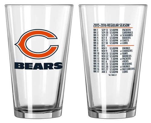 Chicago Bears 2-Pack Schedule Pint Glasses ()