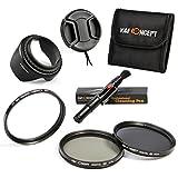 52MM Basic Filter Kit, K&F Concept UV CPL ND4 Circular Polarizing Neutral Density Filter Kit + Lens Hood + Lens Cap + Cleaning Pen + Shockproof Filter Bag forCanon Digital EOS Rebel SL1 (100D), T5i (700D), T4i (650D), T3 (1100D), T3i (600D), T1i (500D), T2i (550D), XSI (450D), XS (1000D), XTI (400D), XT (350D), 1D C, 70D, 60D, 60Da, 50D, 40D, 30D, 20D, 10D, 5D, 1D X, 1D, 5D Mark 2, 5D Mark 3, 7D, 6D,
