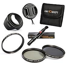 58MM Filter Kit, K&F Concept UV CPL ND4 UV Protector Circular Polarizer Polarizing Neutral Density ND Lens Filter Kit for Canon eos Rebel T5i T4i T3i T6i DSLR Camera + Lens Hood + Center Pinch Lens Cap + Microfiber Cleaning Pen + Filter Case