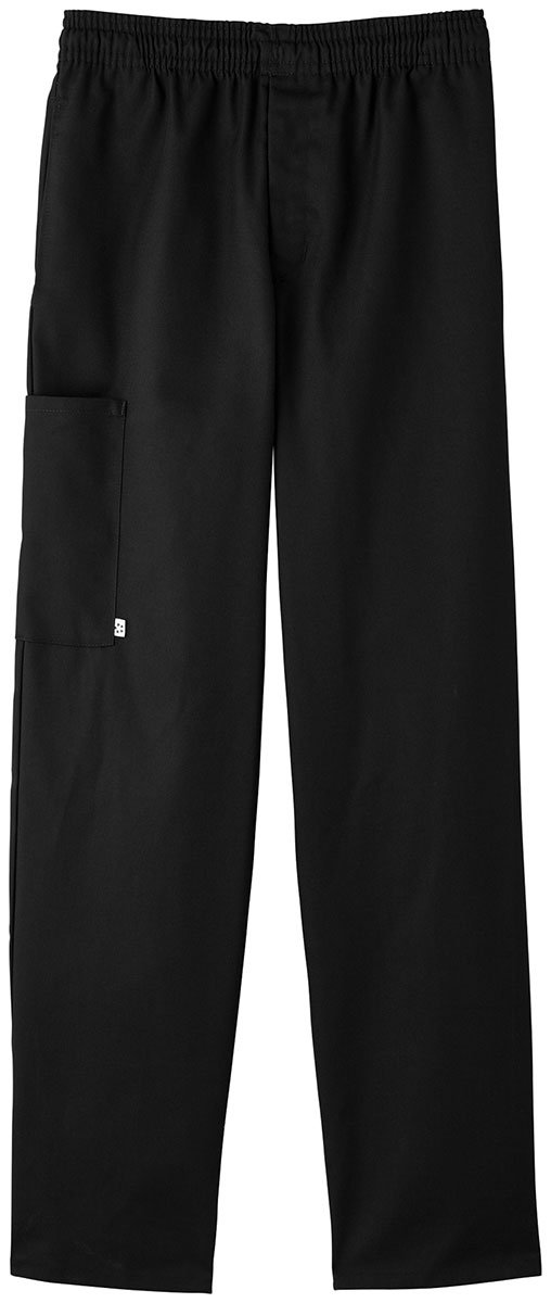 Five Star Chef Apparel Unisex Zipper Front Pant (Black, Small)