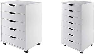 Winsome Halifax Storage/Organization, 5 Drawer, White & Halifax Storage/Organization, 7 Drawer, White