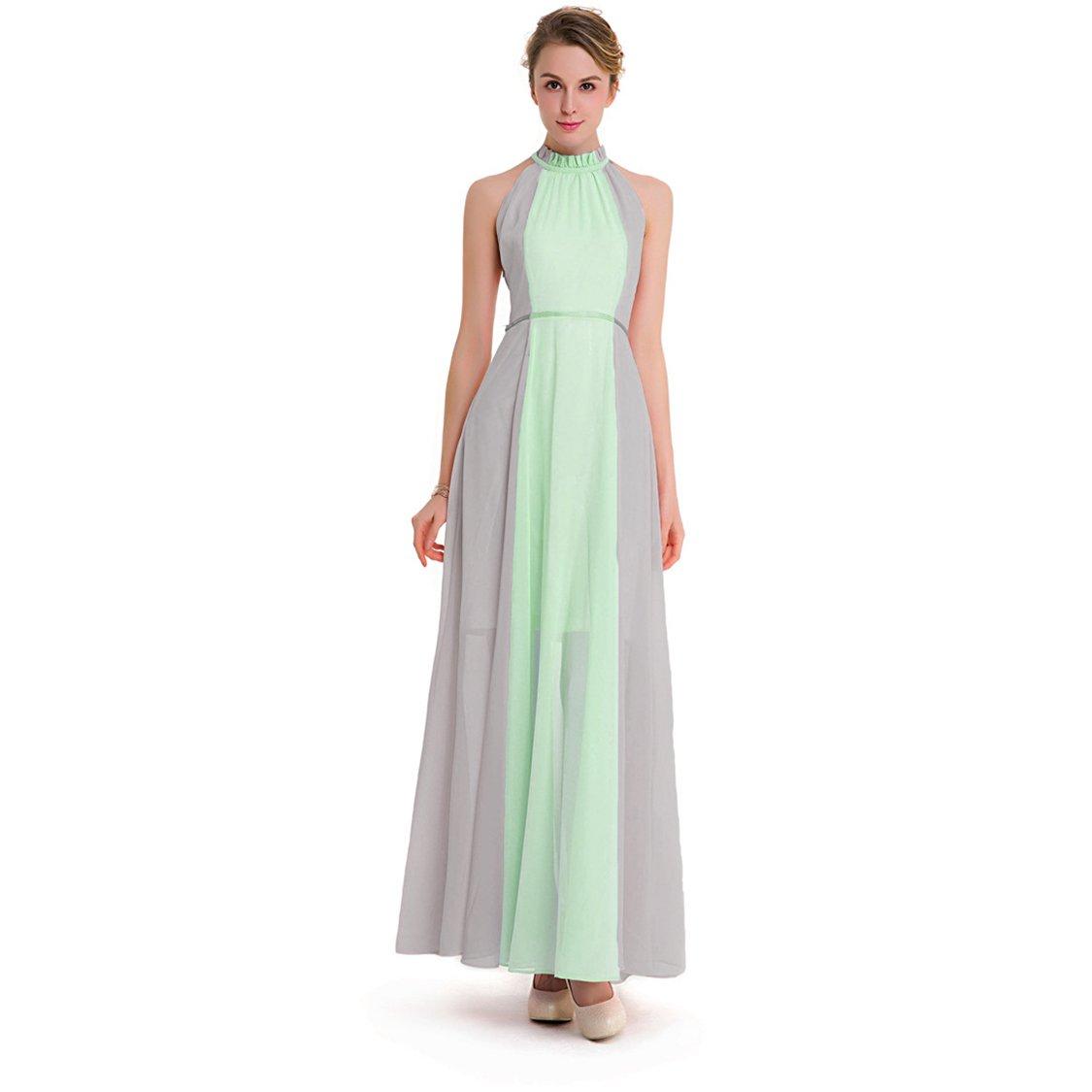 Amazon.com: BXYR Ladys Dress Womens Dresses Chiffon Gradient Sleeveless Off Shoulder Big Pendulum Long Dress Party Beach Daily Casual Home Temperament ...