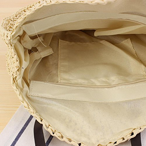 Shoulder Summmer Single Fashion Bag Easy Round Woven Hand Beach Beach Bag Women Bag Woven Jin New Bag Pretty Totes Fashion Straw 8YqUxnR5