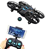 Fistone RC Drone WiFi FPV Quad-Rotor 2.4G 4-Axis Gyro Altitude Hold Helicopters Nano Airscrew Portable Aircraft 3D Flip Remote Control UFO Exploration multirotors Electronic Hobby Toys(Blue)