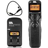 PIXEL TW-283/DC0 カメラ用 ワイヤレス タイマー リモコンnikon,無線レリーズとケーブルレリーズ両用,バルブとインターバルタイマー機能付き,2.4GHz リモート,30チャンネル選択可能,3.5mmシャッターケーブル付き,一眼レフ nikon D800 D810 D700 D500 D300 D200 D1 D2 D3 D4 D5 N90S F5 F6 F100 F90 F90Xなど対応