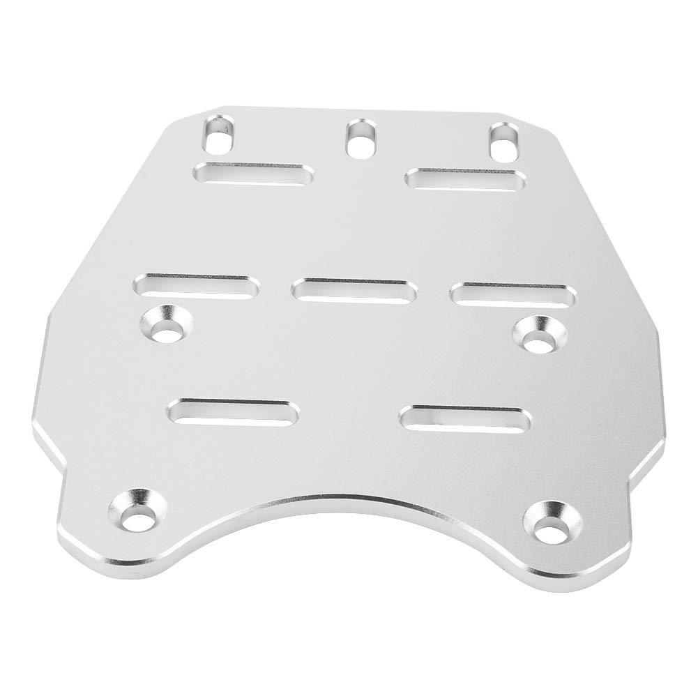 Gray EBTOOLS CNC Motorcycle Rear Luggage Rack Cargo Holder Shelf,Cargo Shelf Bracket for PCX 125 14-17,Aluminum