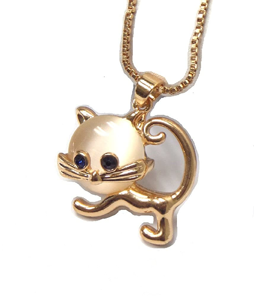 Roses Gift Store~Fashion Jewelry Cat Mini Charm Necklace