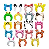 Astra Gourmet 36 Pack Inflatable Headband Cute Animal Headband Balloon Hair Band for kids & Adults Party Favors(AssortedPattern)